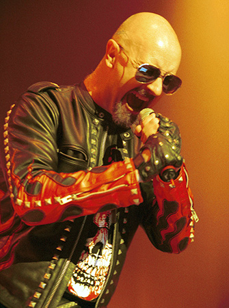 Rob Halford in clothing by Agatha Blois